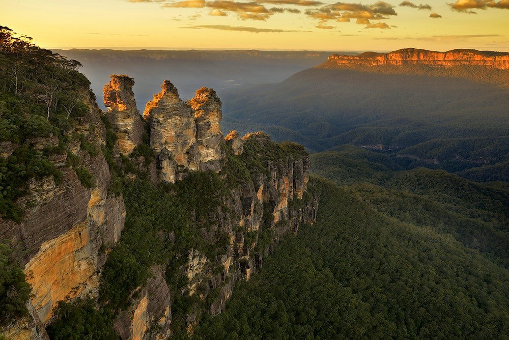 The famous Three Sisters Rock formation.