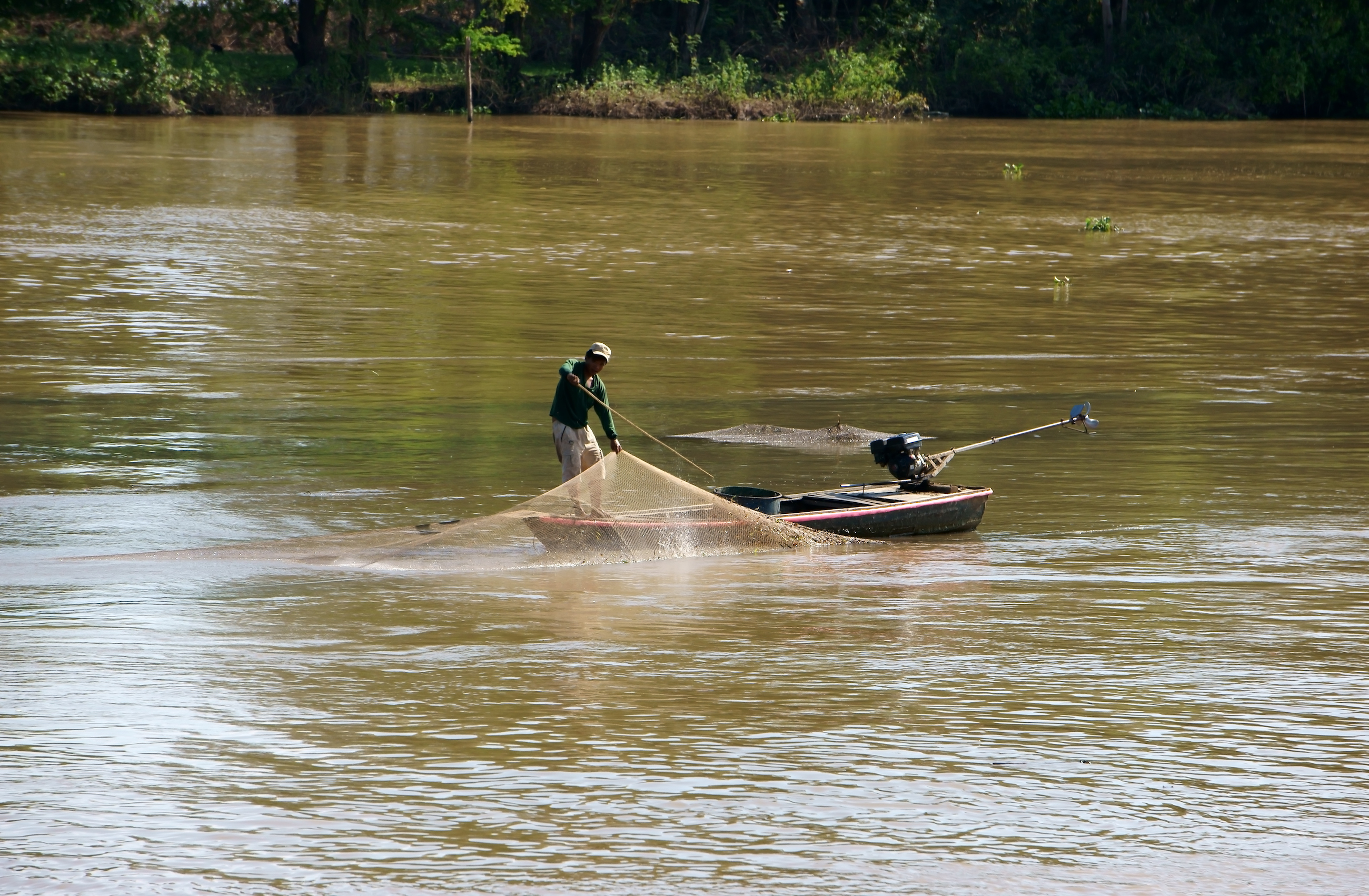 Local people doing their net fishing